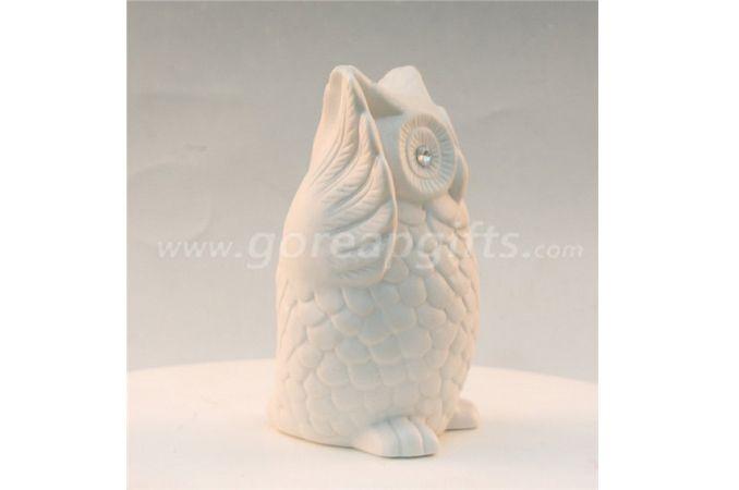 White  hedgehog home decoration ceramic ware