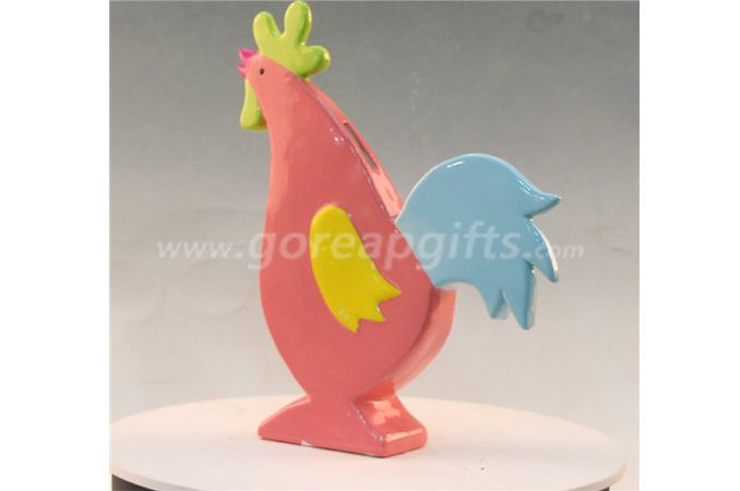 Colorful Cock home decoration ceramic ware