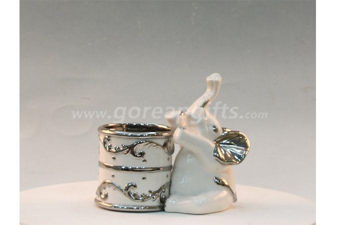 Electricplated elephant  home decoration ceramic ware