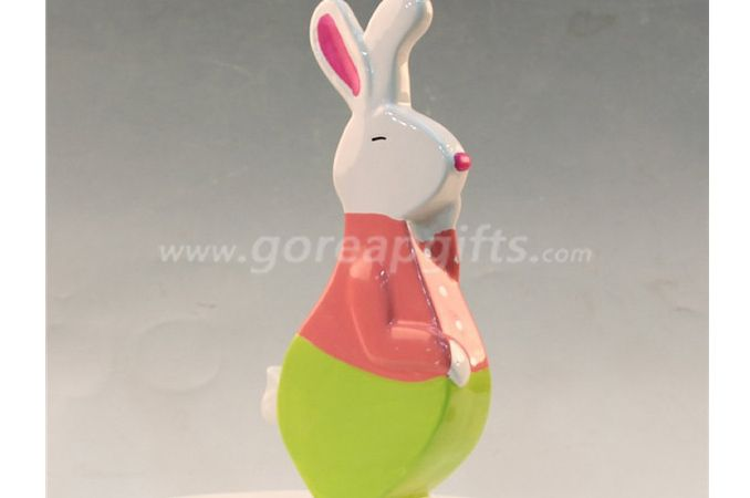 Colorful Rabbit ceramic home decoration home ware