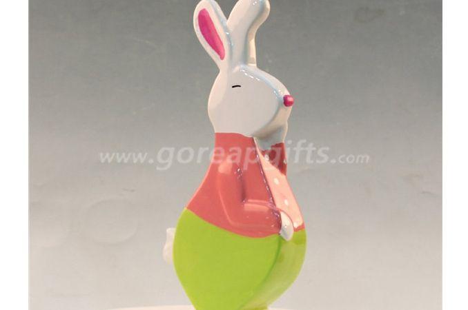 Colorful Rabbit ceramic home decoration home ware
