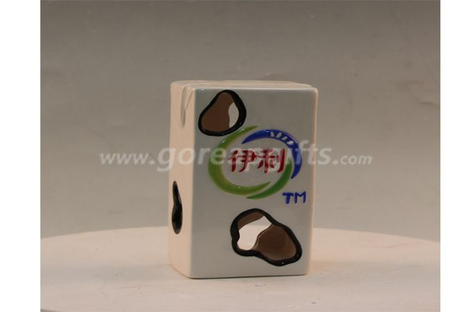 Ceramic milk box home decoration