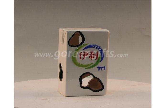 Ceramic milk box home decoration