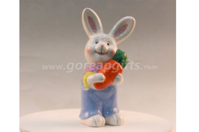 Lovely rabbit home decoration ceramic ware