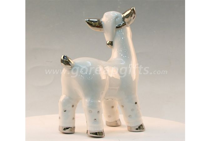 electricplated lamb cereamic ware home decoration