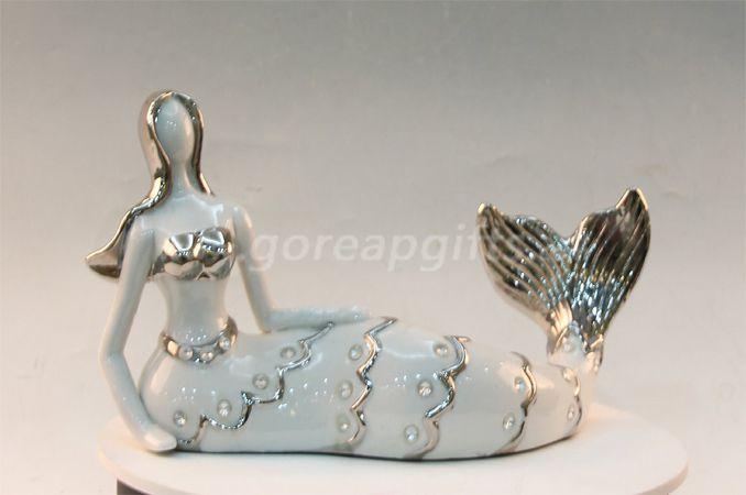 Mermaid ceramic ware home decoration