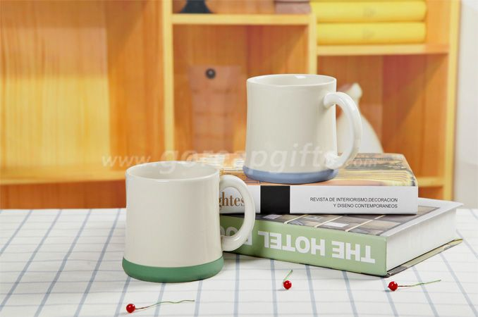 Color glazed 11 oz 300ml Imitation ceramic Enamel mugs wholesale ceramic coffee mugs with customs logo