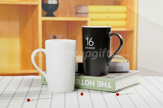 14OZ Ceramic coffee mug black glazed and white glazed