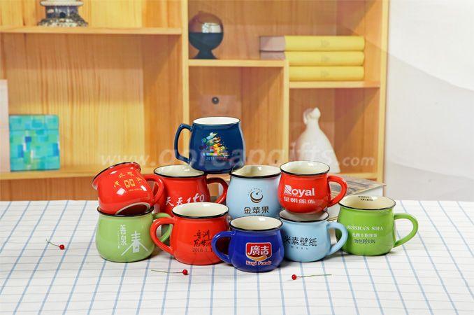 High quality promotional imitation enamel 8oz espresso mugs coffee mug