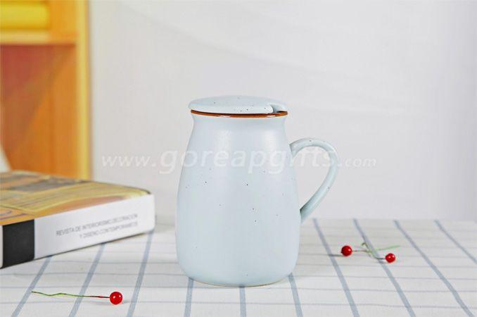 Colorful imitated Enamel yogurt  mug made of Ceramic, creative Advertising cups