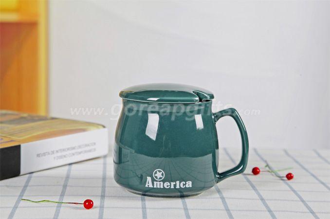 High quality promotional imitation enamel 9oz cereamic mug