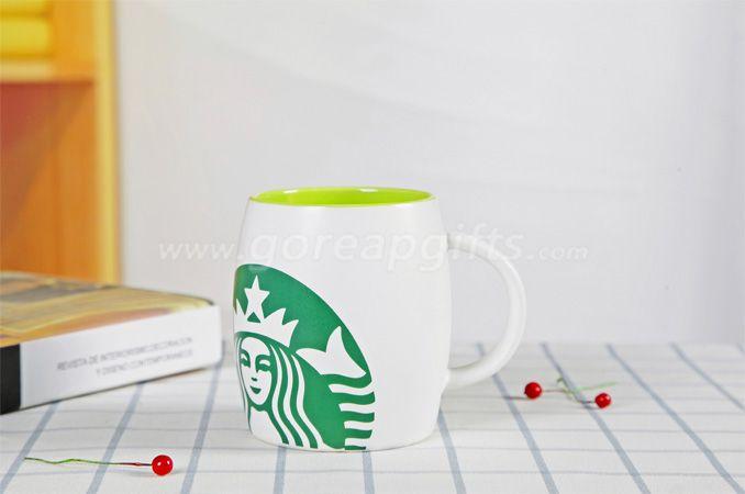 Color  glazed starbuck ceramic coffee mugs factory produce