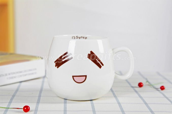 Personality ceramic cute expression mug 300ml customized milk coffee cup