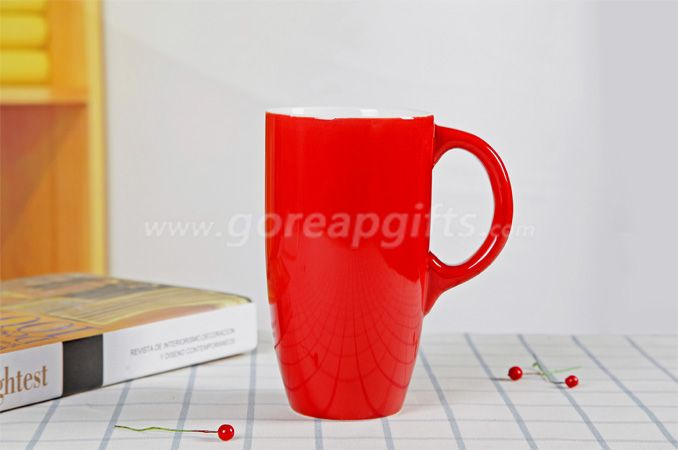20OZ red  glazed   ceramc coffee mug