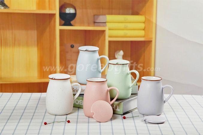 Factory Colorful imitated Enamel yogurt  mug made of Ceramic, creative Advertising mugs