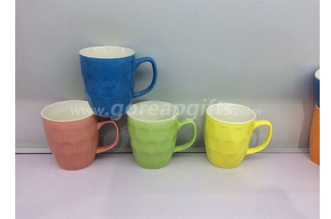 2018 New Best Fine Ceramic Embossed Coffee Mugs Porcelain Water Milk Mugs