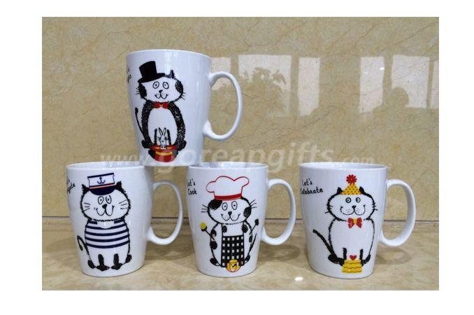 12OZ ceramic coffee mugs with high tempreture decl
