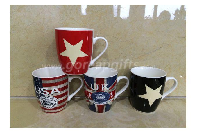 National flag ceramic coffe mugs ceramic ware