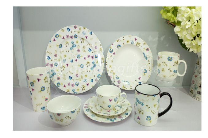 China factory wholesale custom dinnerware ceramic dinner set tableware