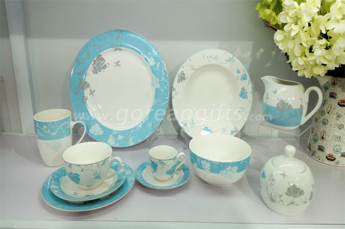 Wholesale Mordern tableware 12pcs stoneware ceramic dinner set