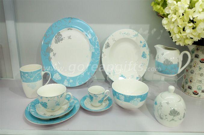 Wholesale Mordern tableware 12pcs stoneware ceramic dinner set