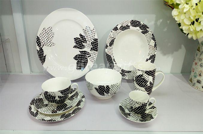 2018  new design bone China dinner set tableware set ceramic dinnerware sets