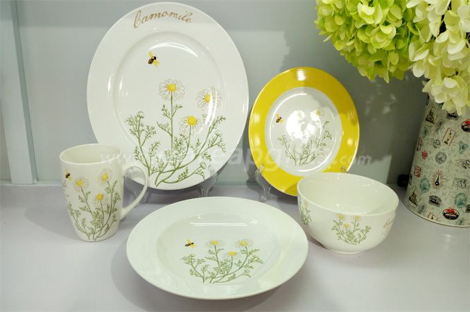 2018 China factory wholesale custom dinnerware ceramic dinner set
