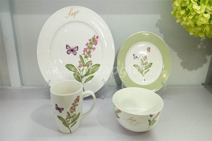 2018 China factory wholesale custom dinnerware ceramic coffee cup and saucer