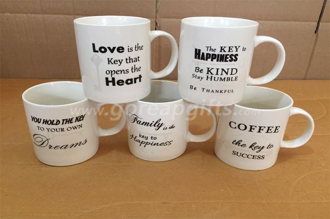 11OZ classic ceramic coffee mug   with high tempreture decal