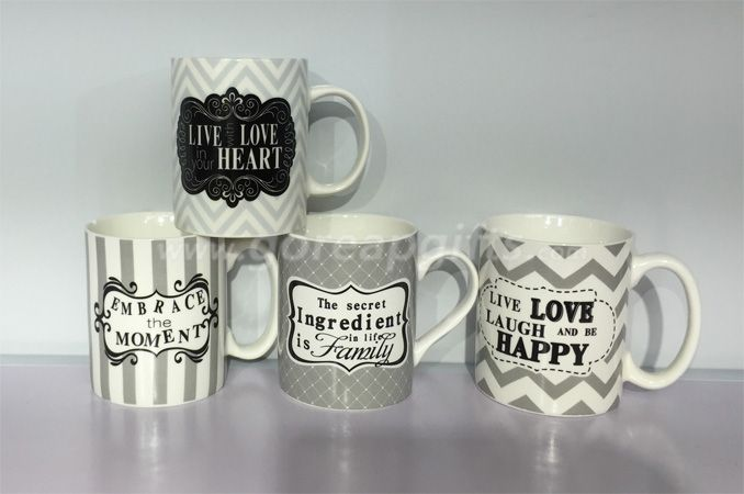 11OZ classic cereamic  coffee mugs ,decal mugs  ,water milk mugs