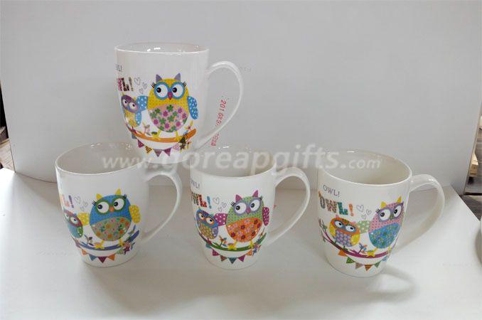 12OZ classic cereamic coffee mugs ,decal mugs  ,water milk mugs