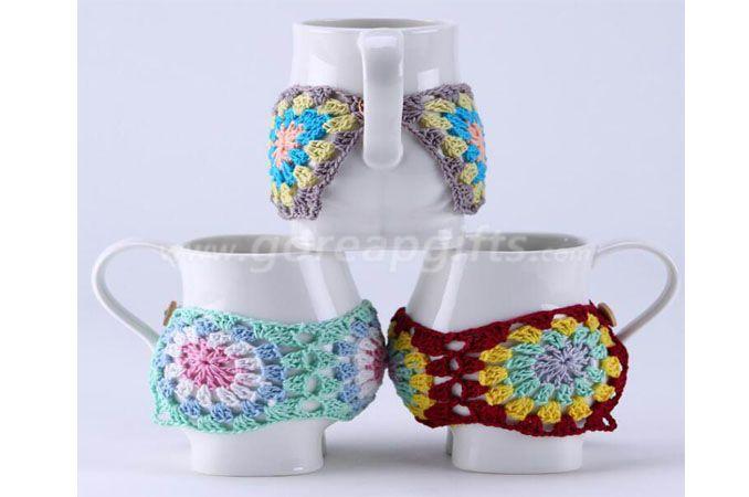 knitted coffee mug sleeve warmmer sweater mug