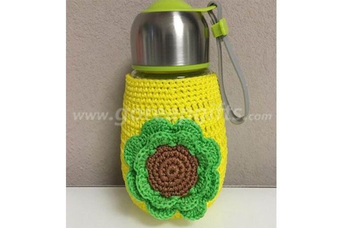 New Fashion  Knitted glass water bottle with knitted sleeve