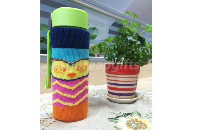 Wholesale knitted sleeve glass mug with glass mugs warmer
