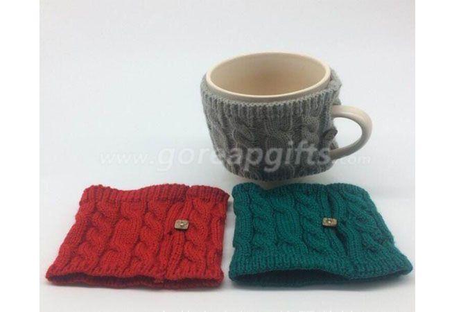 Custom porcelain knitted sleeve coffee mug,Ceramic stoneware knitted sleeve mug