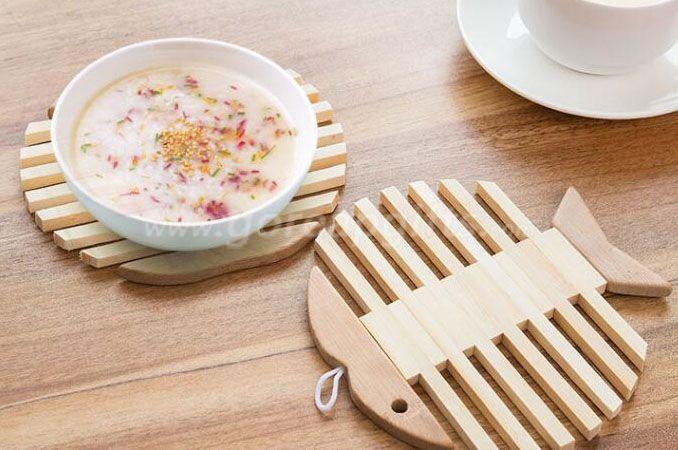 Eco-friendly Natural Bamboo Coaster for Coffee Mug Drink Coaster