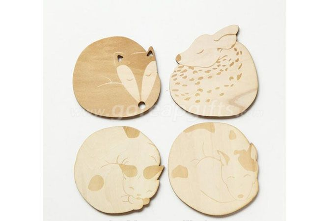 Custom Printed Heat-resistant Blank Wooden Ceramic Cork Mug   Coasters