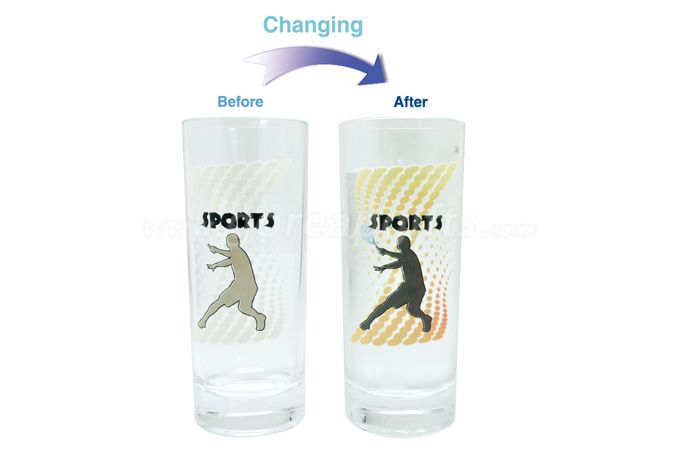 Promotion magic cold color change water glass cup