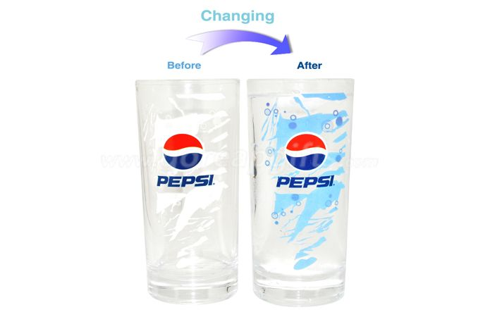 350ml Pepsi cold color changing magic glass