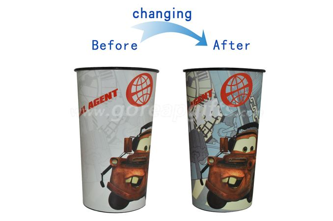 Reusable Drinking Color Changing Plastic Cup  Cups For Promo