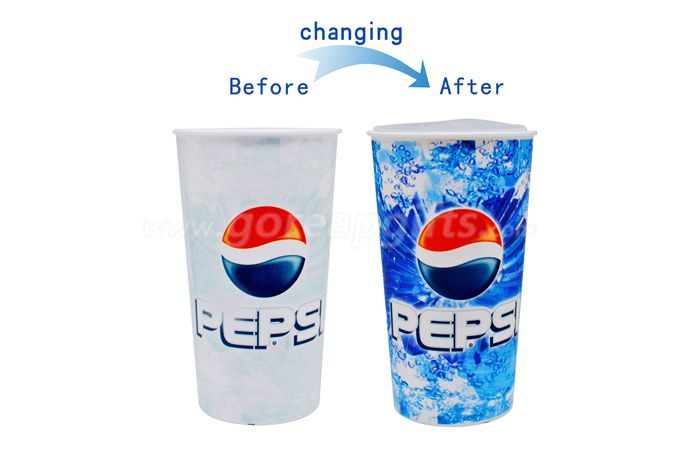 Magic plastic bevarage water beer cold color changing cup for sale