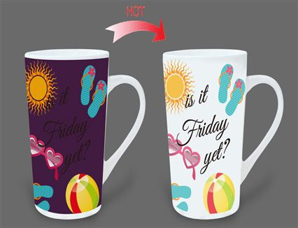 Magic color changing mugs